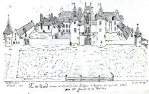 Le château d'Eventard dessiné par Ballain - 1716